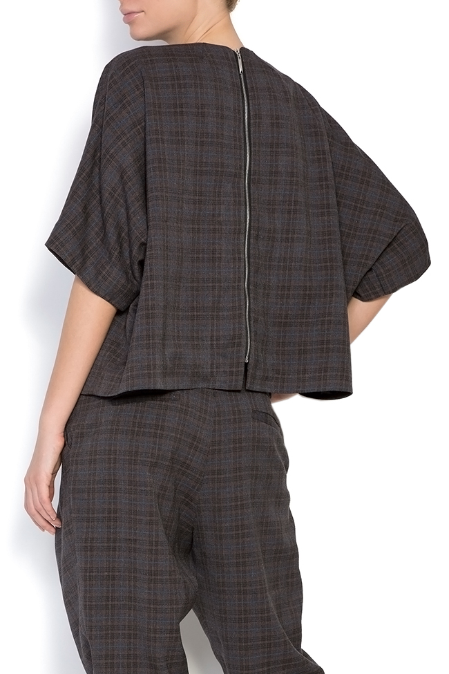 Bluza din tartan cu patratele Cosette Shakara imagine 2