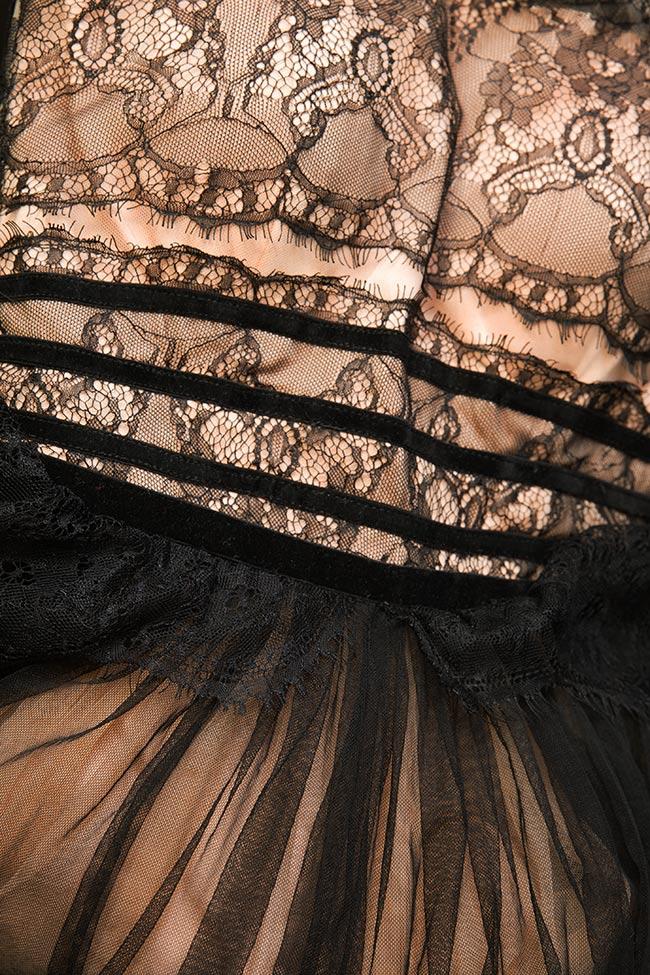 Robe maxi en tulle et dentelle Anais Mirela Pellegrini image 4