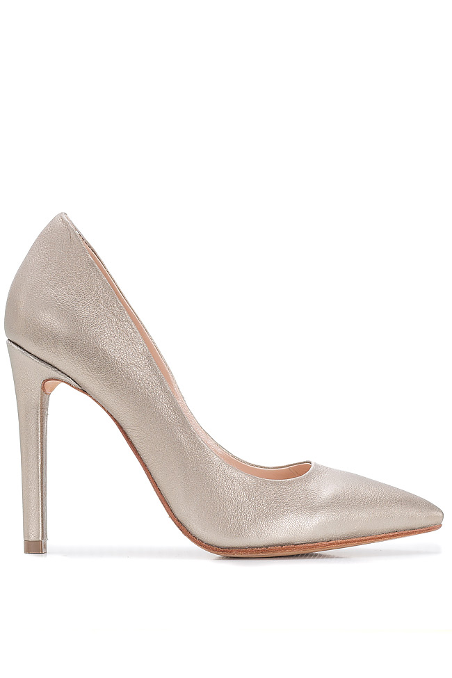 Metallic leather pumps Hannami image 0