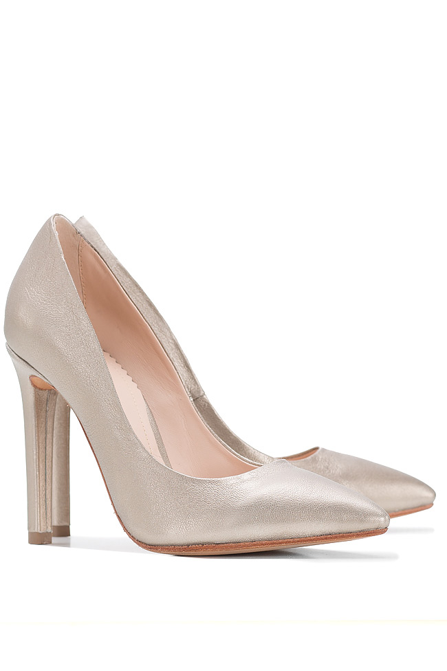 Metallic leather pumps Hannami image 1