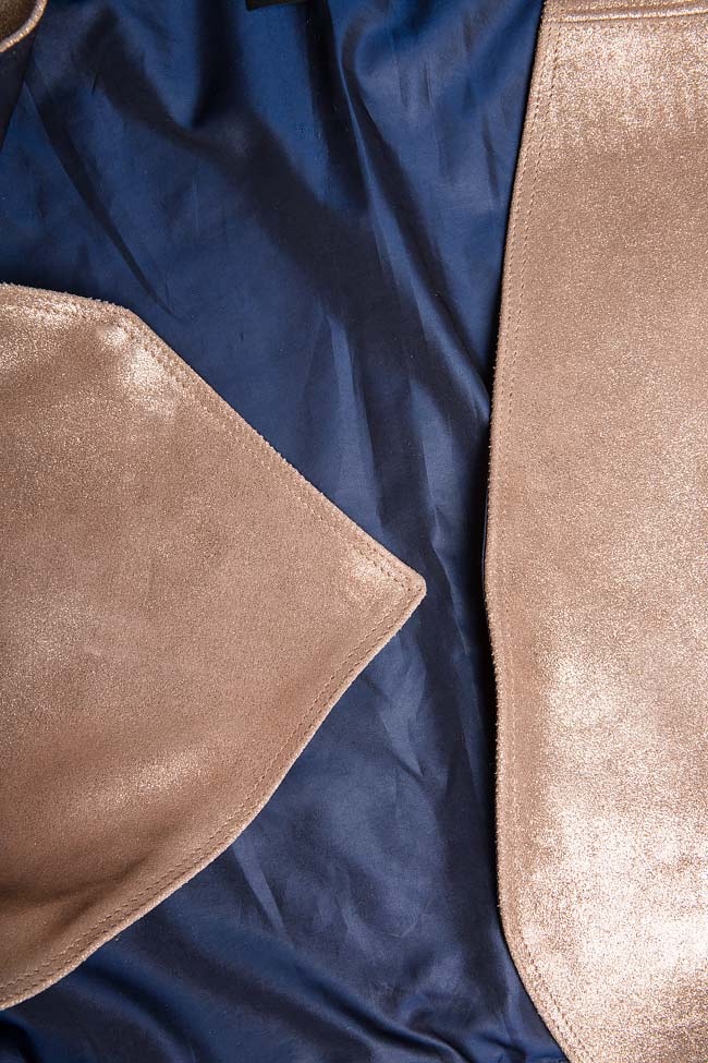 Veste en cuir métallisé  A03 image 4