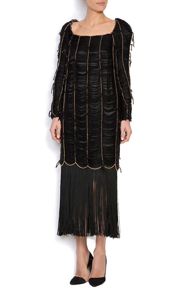 Robe en laine à franges en soie cousus à la main Alexandru Raicu image 0