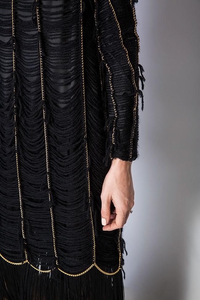 Robe en laine à franges en soie cousus à la main Alexandru Raicu image 3