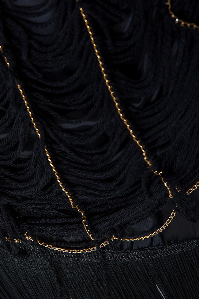 Robe en laine à franges en soie cousus à la main Alexandru Raicu image 4