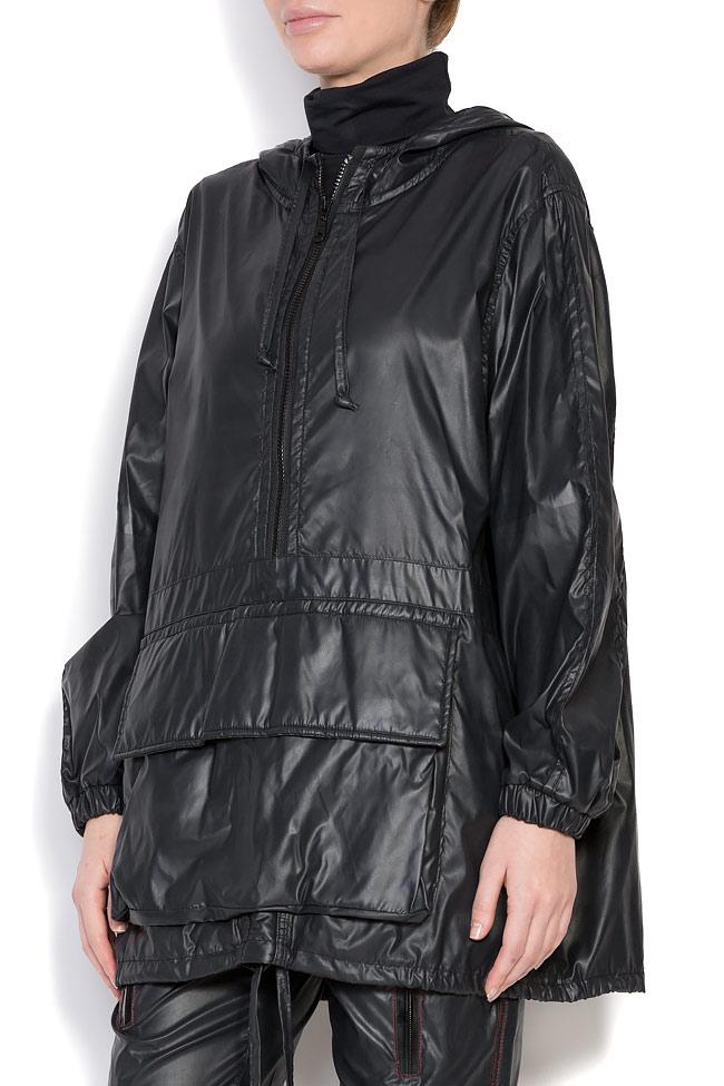 Oversized hooded coated shell raincoat A03 image 1