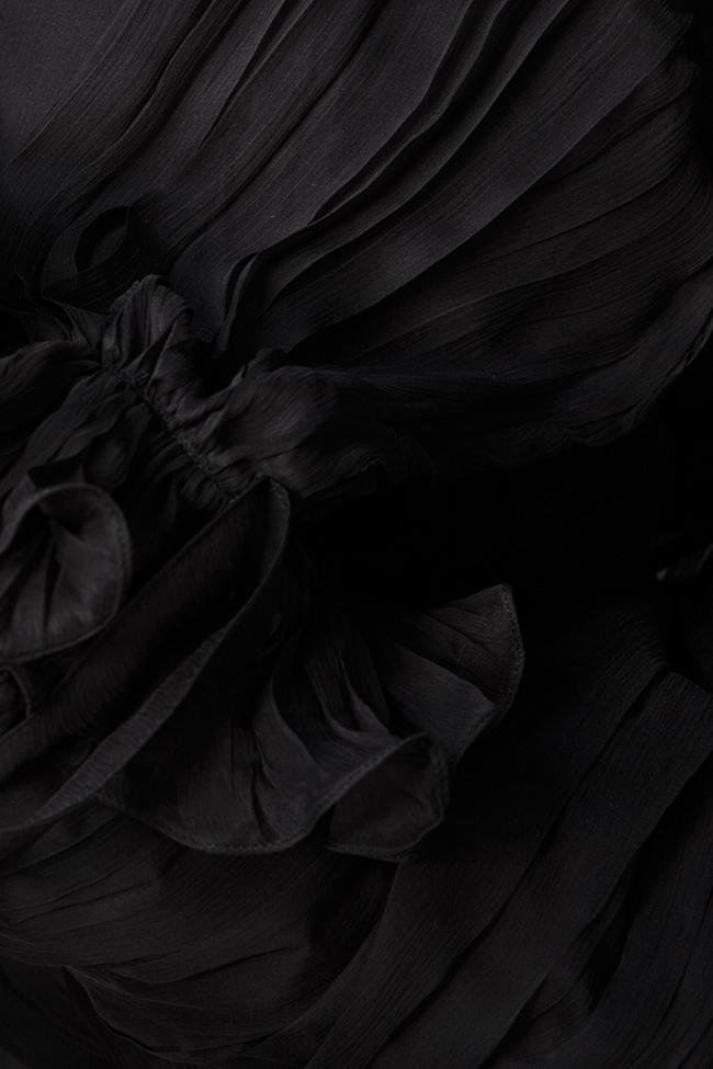 Robe en mousseline de soie avec des manches bouffantes M21 OMRA image 4