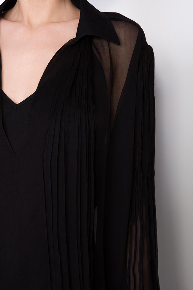 Robe en mousseline de soie avec des manches bouffantes M21 OMRA image 3