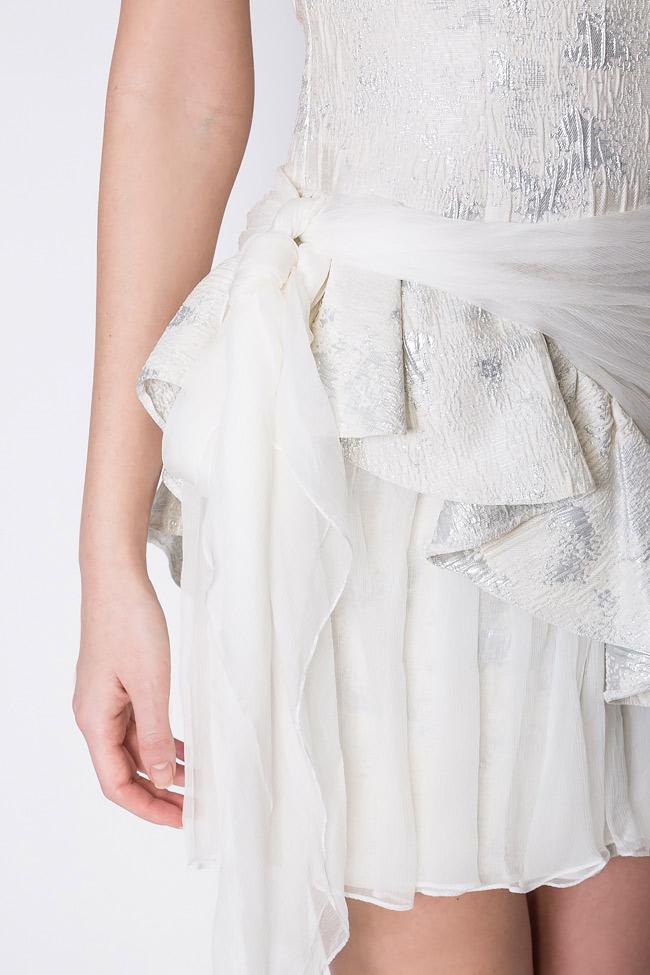 Robe en brocart à empiècements en voile de soie  Mirela Diaconu  image 3