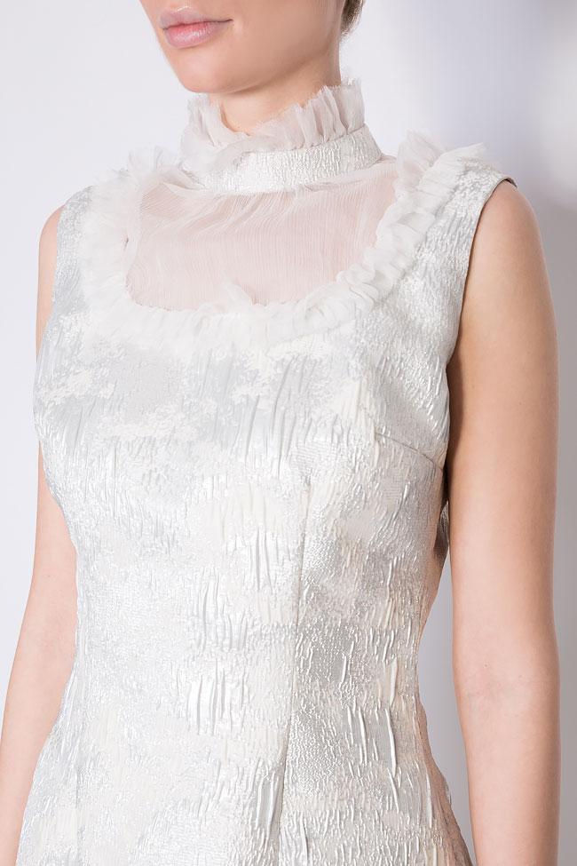 Robe en tissu Jacquard avec insertions en voile de soie Mirela Diaconu  image 3