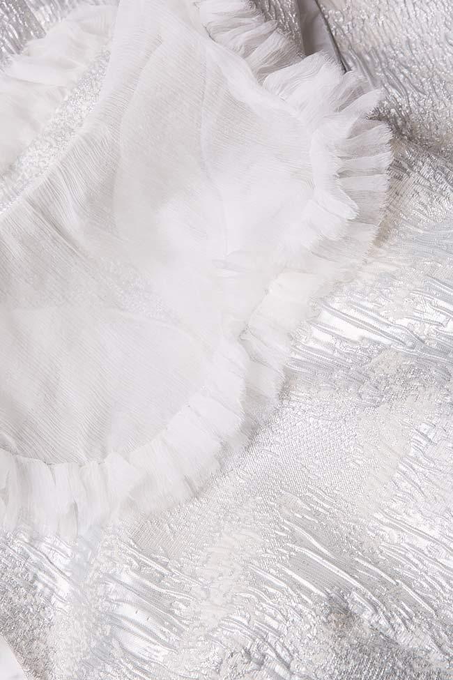 Robe en tissu Jacquard avec insertions en voile de soie Mirela Diaconu  image 4
