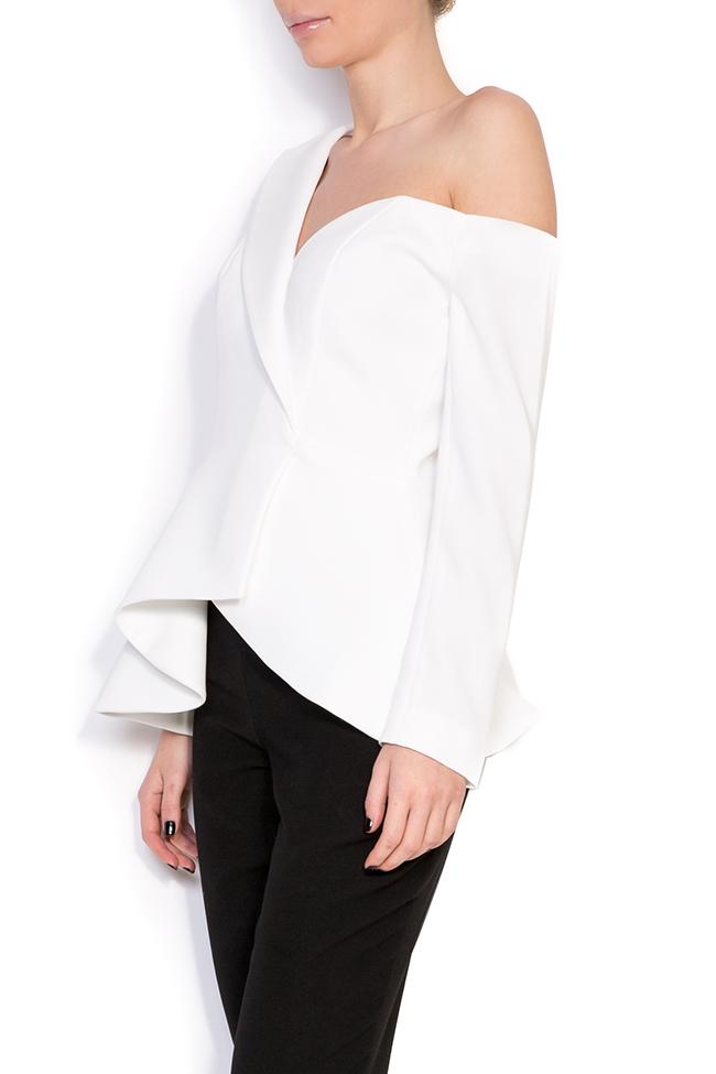 Lola asymmetric one-shoulder crepe blazer M Marquise image 1