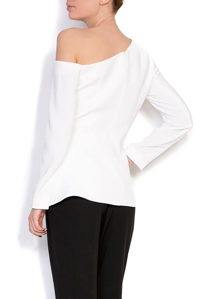 Lola asymmetric one-shoulder crepe blazer M Marquise image 2