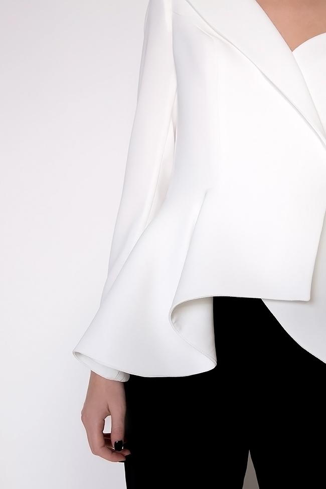 Lola asymmetric one-shoulder crepe blazer M Marquise image 3