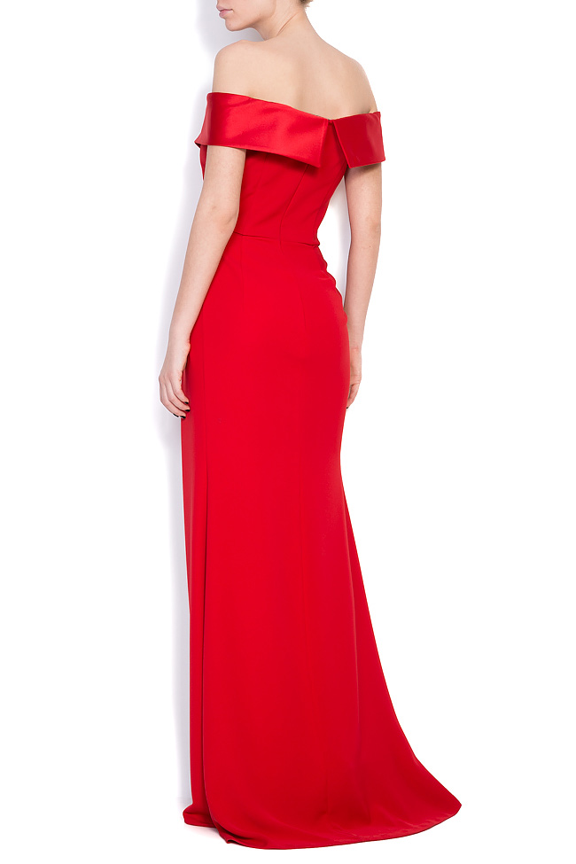Lumi satin-trimmed crepe gown M Marquise image 2