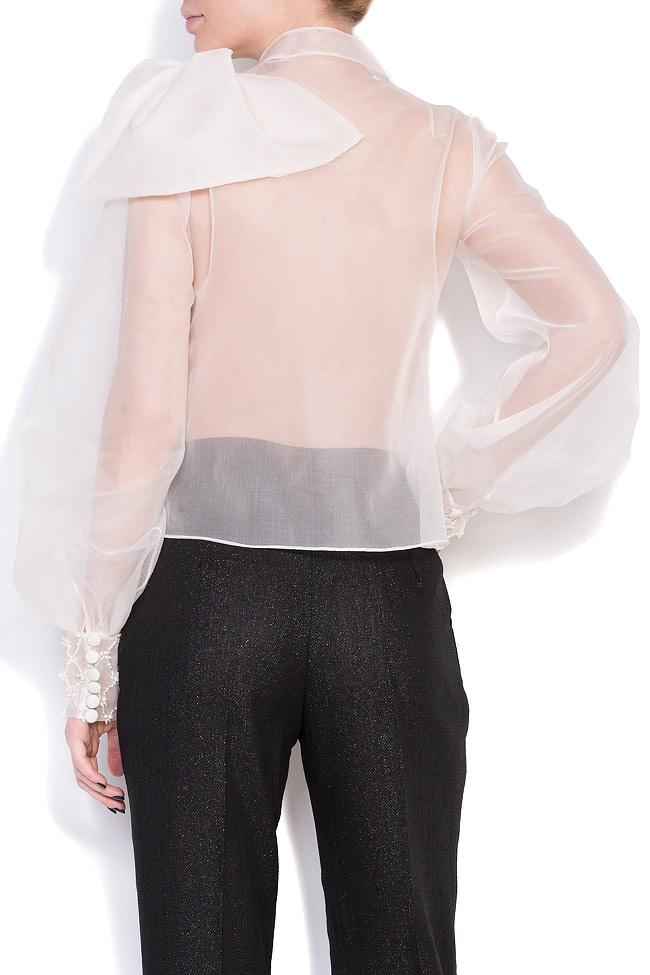 Eva embellished silk-organza shirt M Marquise image 2