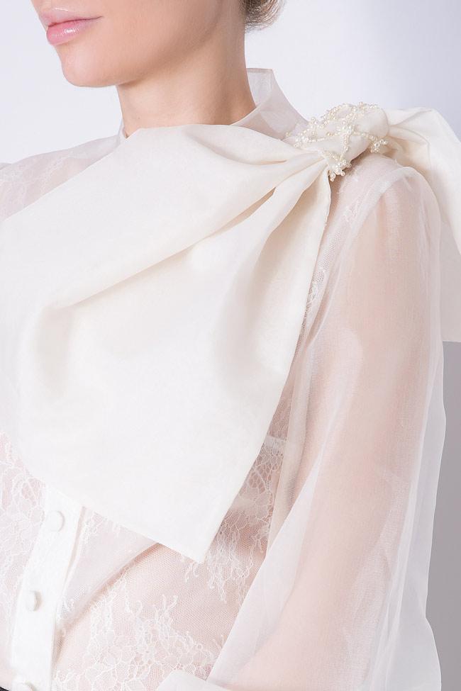 Eva embellished silk-organza shirt M Marquise image 3