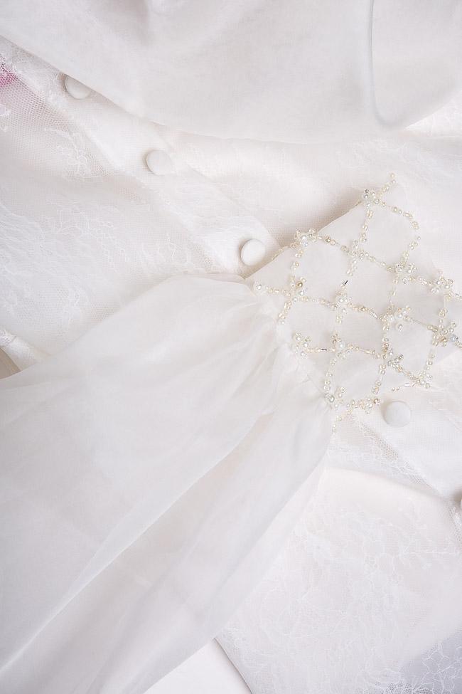 Eva embellished silk-organza shirt M Marquise image 4