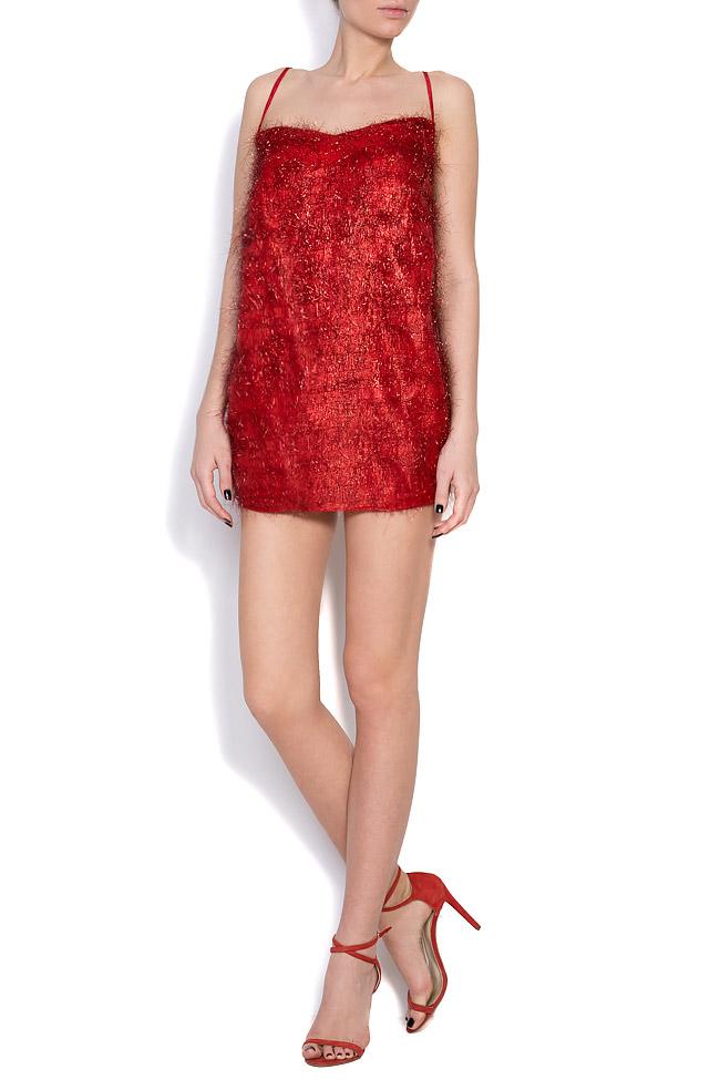 Fringed lurex mini dress Dorin Negrau image 0