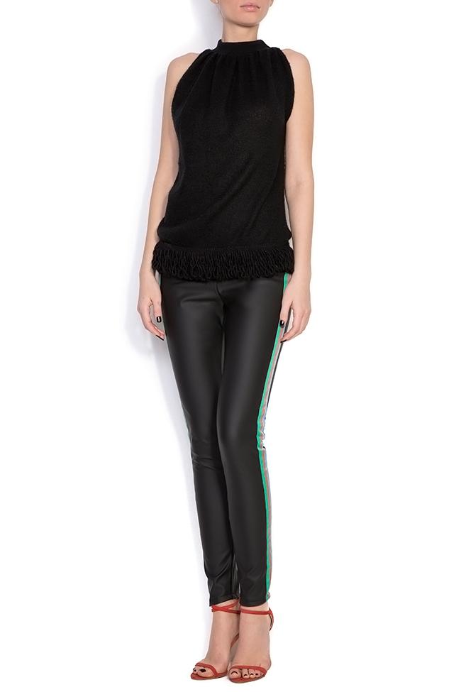 Pantalon en cuir écologique à rayures  Dorin Negrau image 0