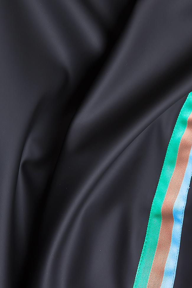 Pantalon en cuir écologique à rayures  Dorin Negrau image 4
