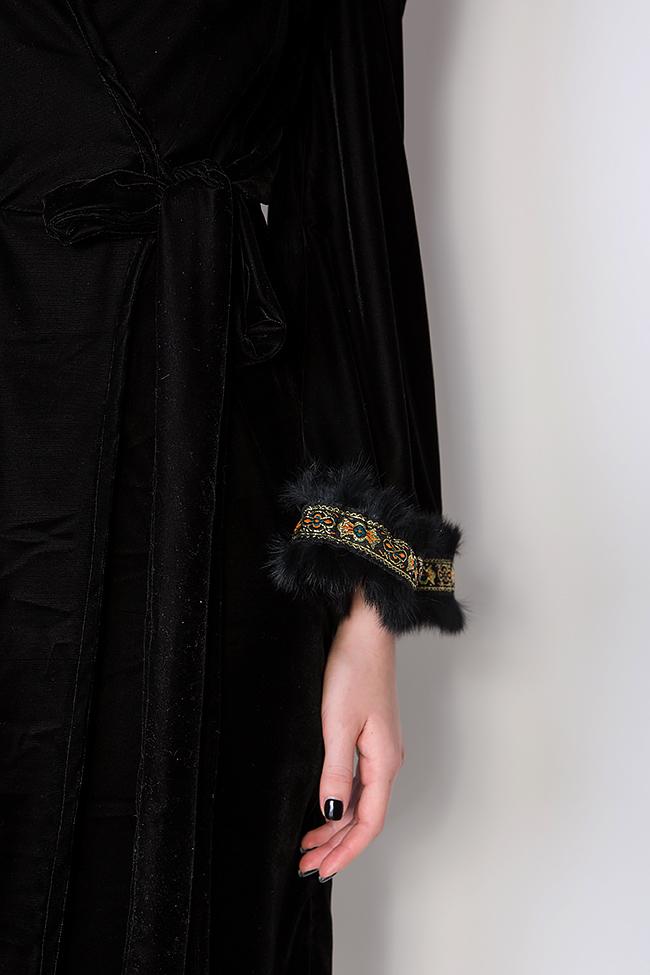 Robe en velours à ornements brodés à la main Hard Coeur image 3