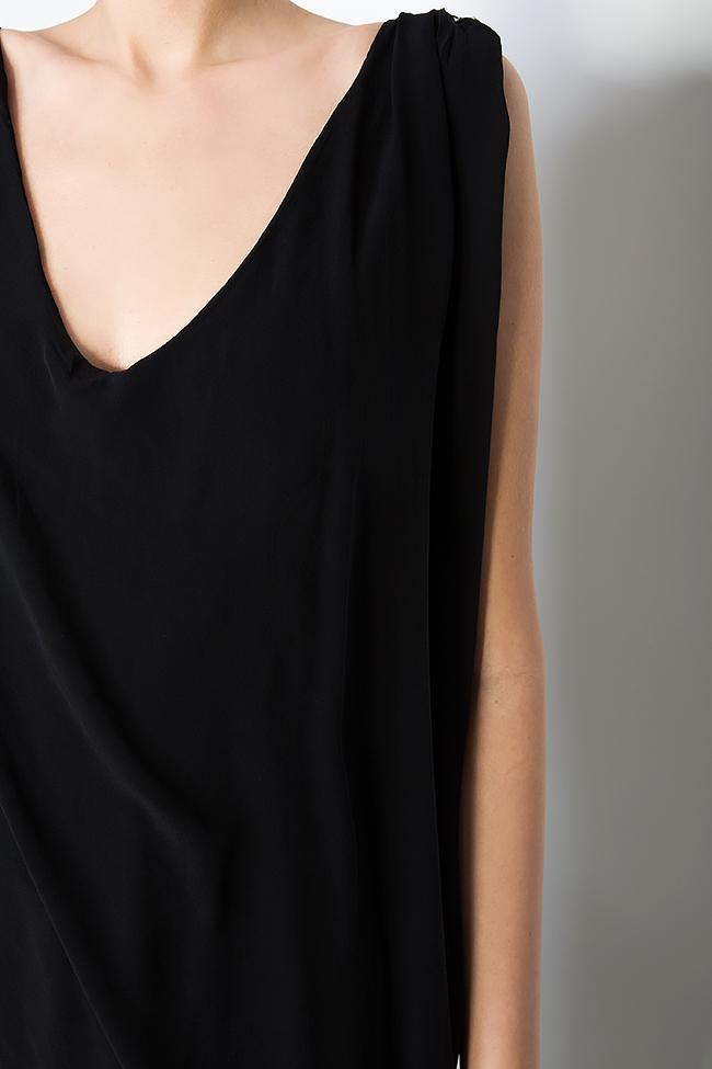 Robe en soie peinte à la main ornée de cristaux   B.A.D. Style by Adriana Barar image 4