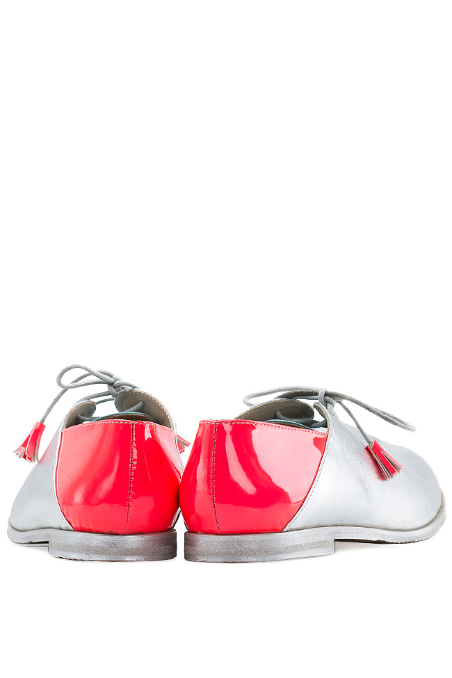 Pantofi stil Oxford Crazy Pink Mono Shoes by Dumitru Mihaica imagine 2