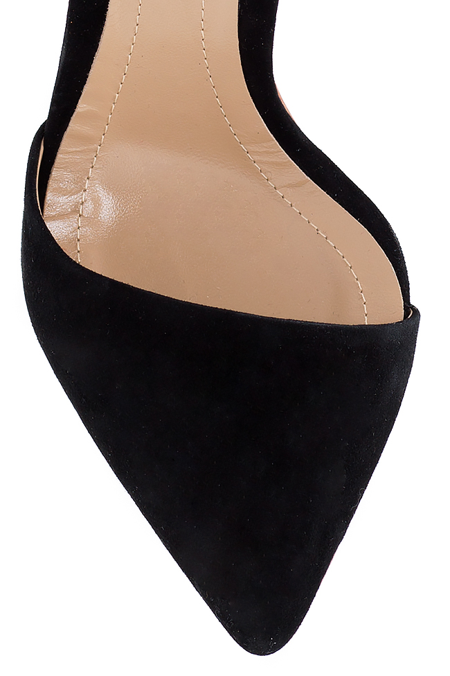 Pantofi din piele intoarsa cu bareta pe glezna Hannami imagine 3