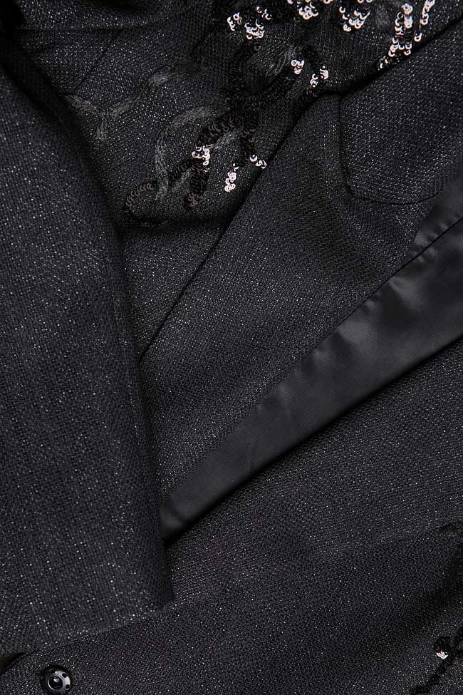 Ensemble tailleur avec broderies en sequins Simona Semen image 4