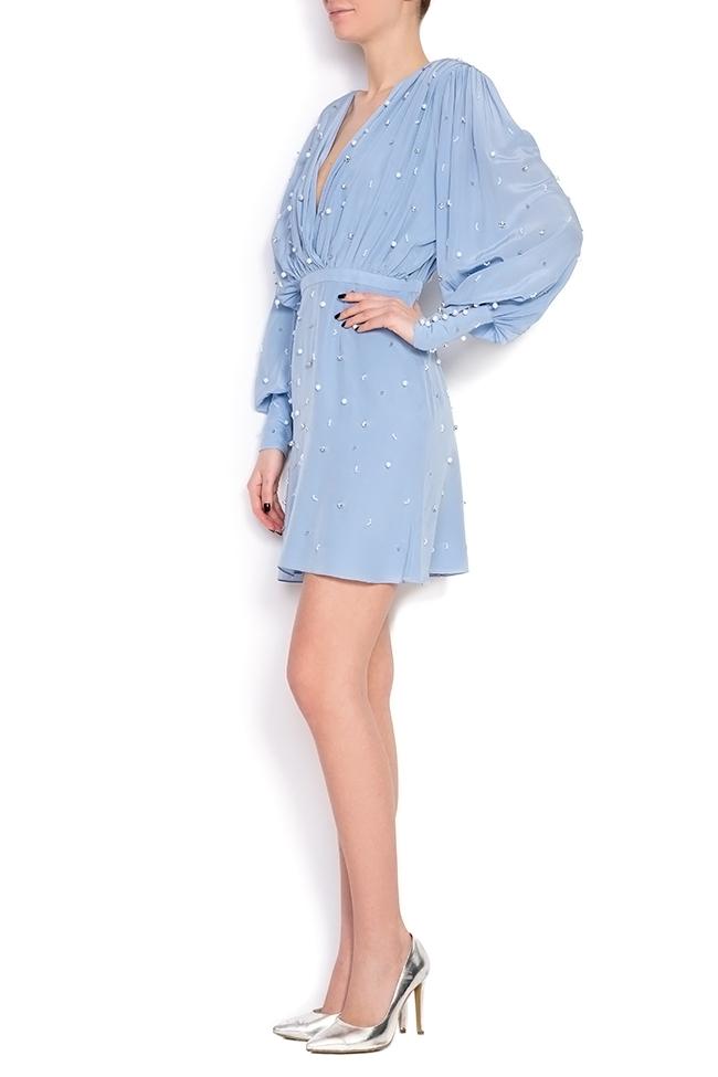 Beat embellished silk dress Manuri image 1