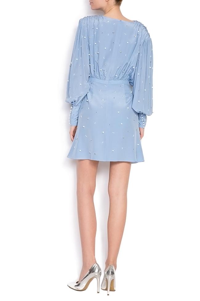 Beat embellished silk dress Manuri image 2