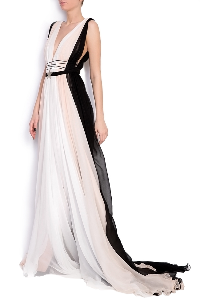 Embellished open-back silk maxi dress Manuri image 1