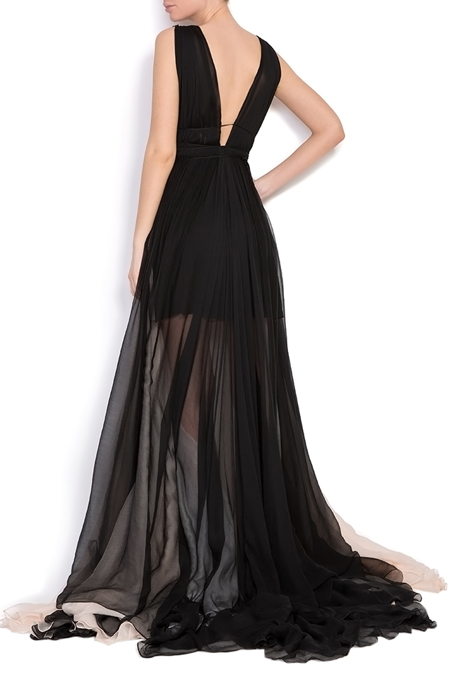 Embellished open-back silk maxi dress Manuri image 2