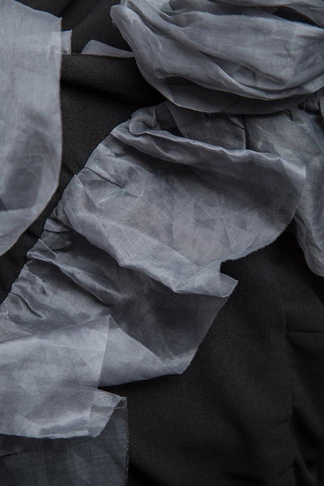 Robe en crêpe et volants en organza gris Bien Savvy image 4
