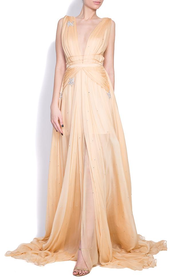 Embellished star silk gown Manuri image 0