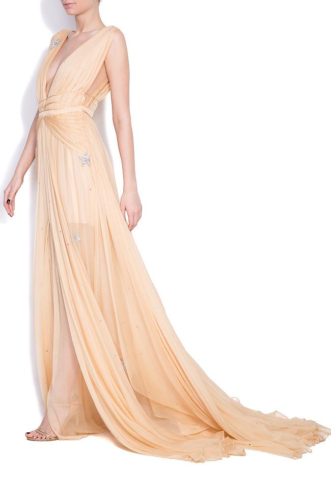 Embellished star silk gown Manuri image 1