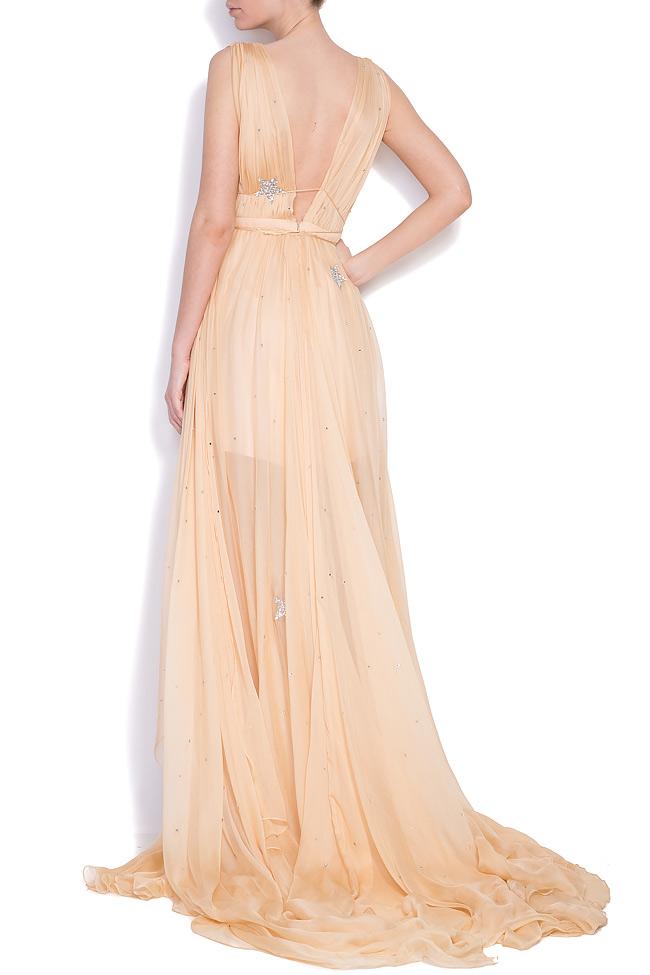 Embellished star silk gown Manuri image 2