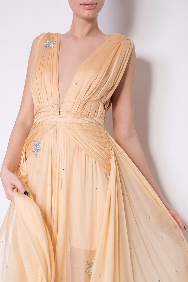 Embellished star silk gown Manuri image 3