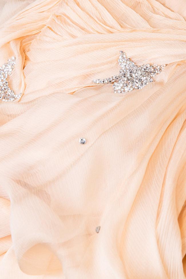 Embellished star silk gown Manuri image 4