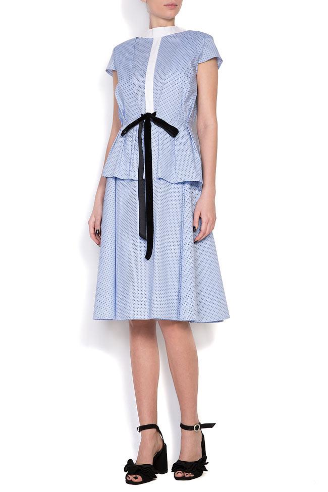 Robe en coton et nœud en velours Bluzat image 0