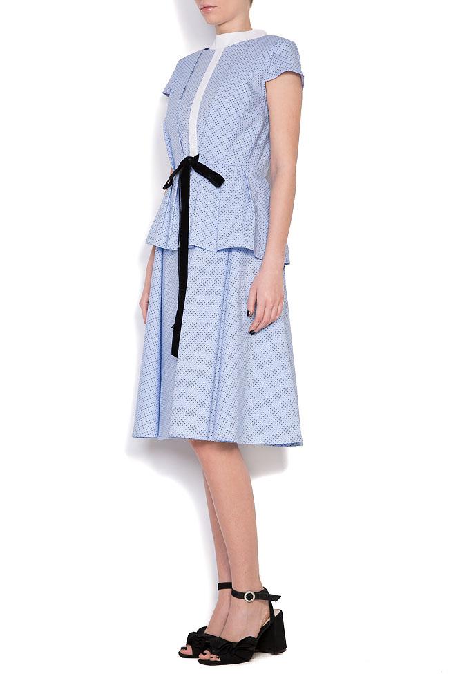 Robe en coton et nœud en velours Bluzat image 1