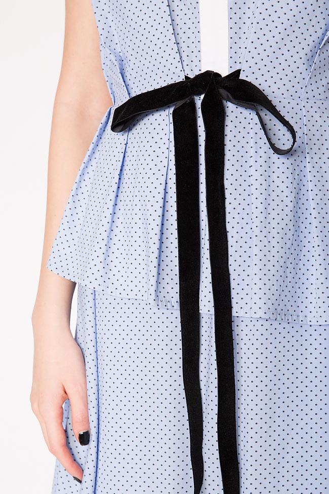 Robe en coton et nœud en velours Bluzat image 3