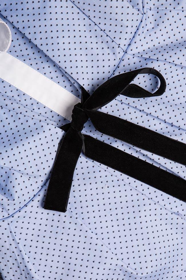 Robe en coton et nœud en velours Bluzat image 4