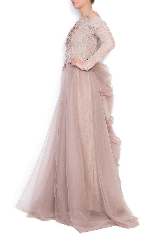 Robe en dentelle et tulle avec jupe détachable, Lorraine Simona Semen image 1