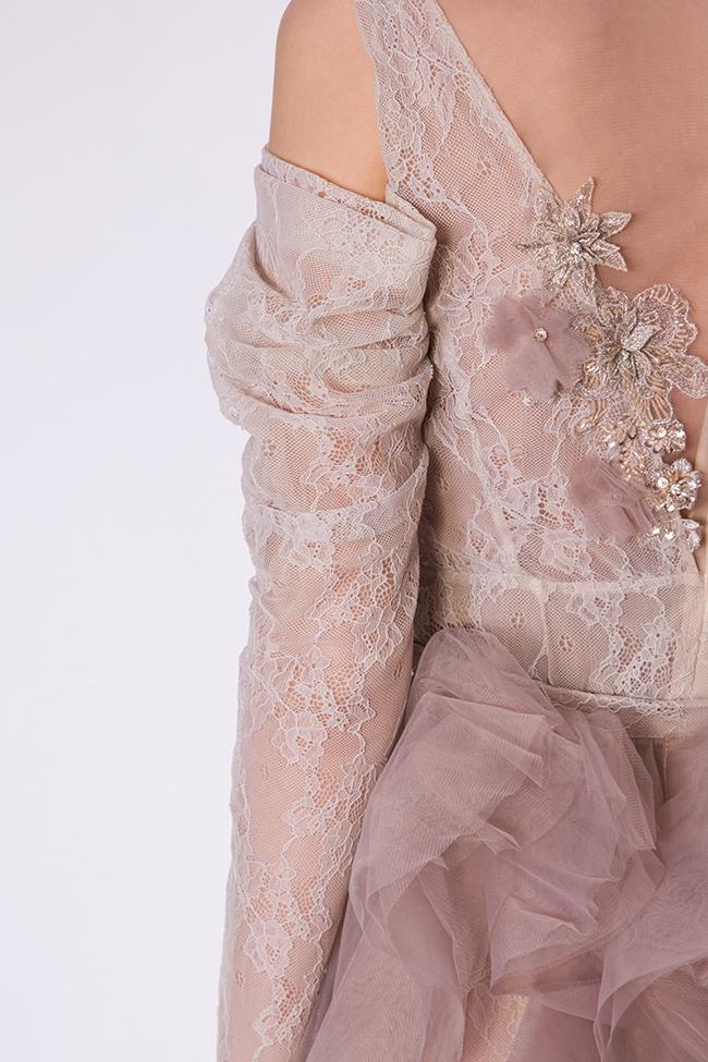 Robe en dentelle et tulle avec jupe détachable, Lorraine Simona Semen image 3