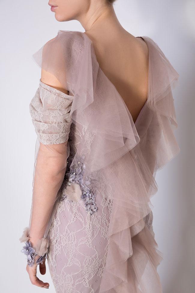 Robe brodée en dentelle et tulle Lilian Simona Semen image 3