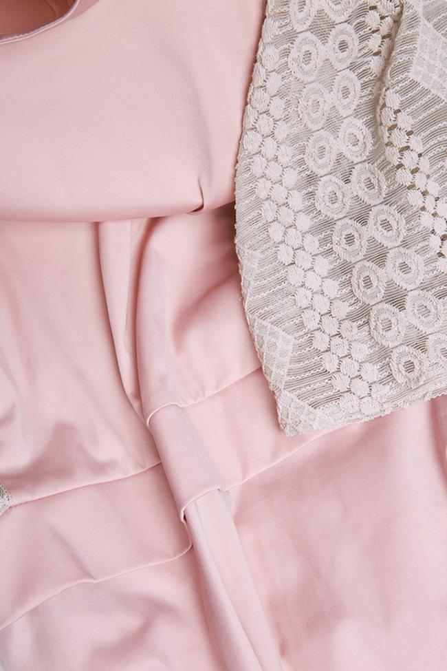 Robe en coton, avec insertions en dentelle BLUZAT image 4