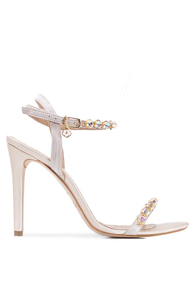 Sandales en cuir, ornées de perles Hannami image 0
