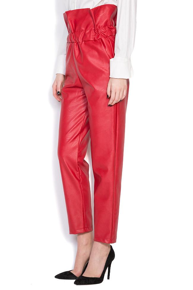 Pantalon taille haute, en cuir écologique Hard Coeur image 1