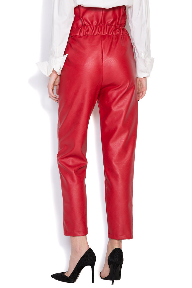 Pantalon taille haute, en cuir écologique Hard Coeur image 2